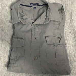 Gap Long Sleeved Utility Shirt Medium